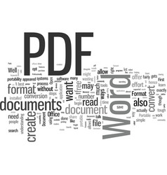 How to convert word documents into pdf format vector