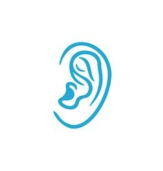 Human ear icon vector image