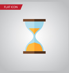Isolated instrument flat icon clock vector