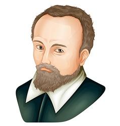 Johannes Kepler vector image