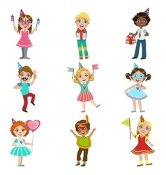 Kids Celebration Set vector image vector image