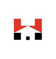 Letter h house logo icon symbol vector