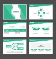 Light green presentation templates Infographic vector
