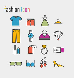 line icons fashion icon modern infographic logo vector image