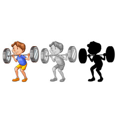 man lifting weight character vector image
