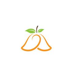 mango logo icon vector image