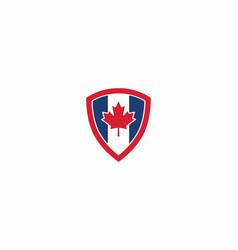 Maple shield canadian icon logo symbol design vector