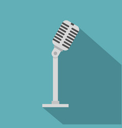 Microphone icon flat style vector