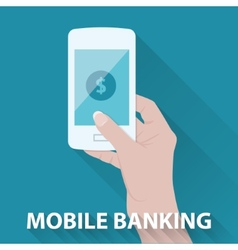 mobile banking vector image