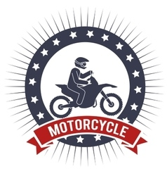 Motorcycle extreme sport banner design vector