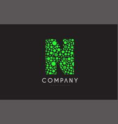 n letter bubble green logo icon design vector image