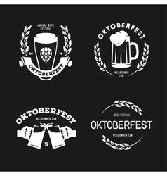 Oktoberfest beer festival retro style labels vector