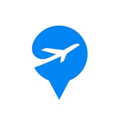 pin pointer location flat logo element vector image