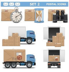 Postal icons set 2 vector