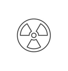 Radiation or nuclear caution line outline icon vector