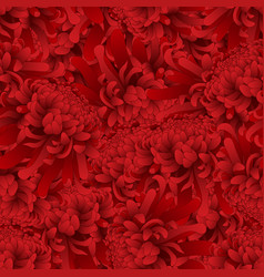 red chrysanthemum flower seamless background vector image
