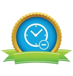 Remove time round icon vector