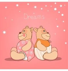 Romantic Bears vector image vector image
