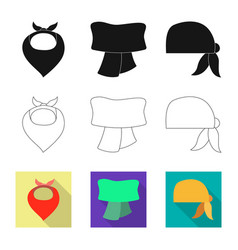 Scarf and shawl symbol set vector