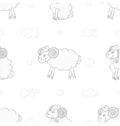 seamless pattern background with sheep vector image