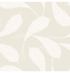 Seamless pattern with white feathers vector