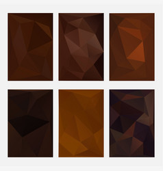 set brown wrinkled triangle paper coffee and vector image