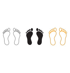 Silhouette human footprints baby footsteps icon vector