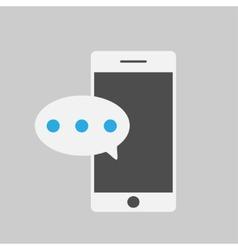 Smart phone and massegeflat style vector