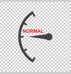 Speedometer tachometer fuel normal level icon vector