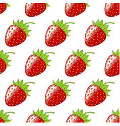 strawberry berry seamless pattern vector image