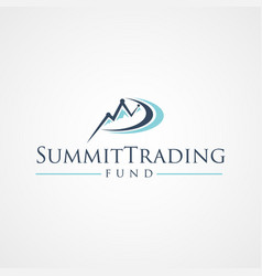 summit trading fund logo symbol with graphical vector image