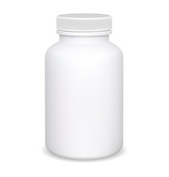 supplement bottle pill container mockup jar vector image