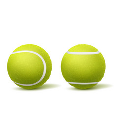 tennis ball top side view realistic vector image