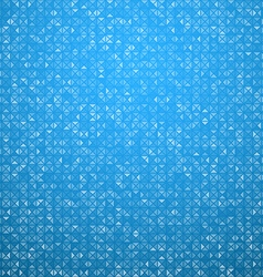 Triangles blue technology pattern vector image