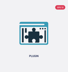 Two color plugin icon from programming concept vector