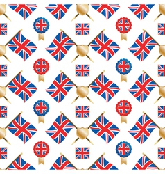 uk seamless pattern vector image