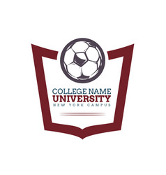 university college logo vector image