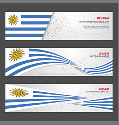 Uruguay independence day abstract background vector