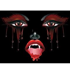 Vampire Makeup vector