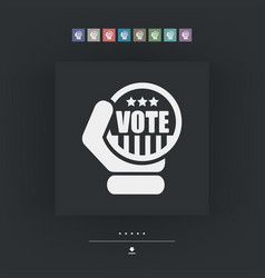 vote icon vector image