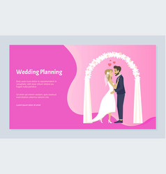 wedding planning people celebrating engagement vector image