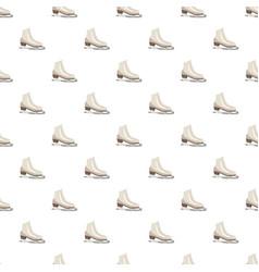 White figure skates pattern vector