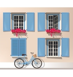Windows and bicycle vector image vector image