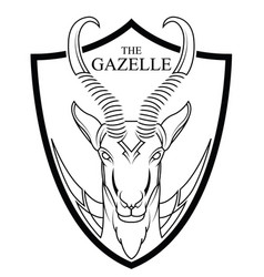 animal of africa gazelle head vector image