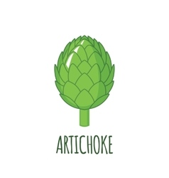 Artichoke icon in flat style on white background vector image