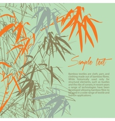 Bamboo Floral background with copy space vector image vector image