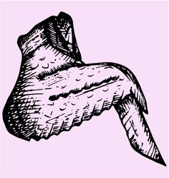 Chicken wing vector