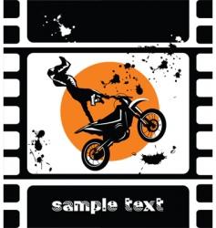 motocross movie vector image