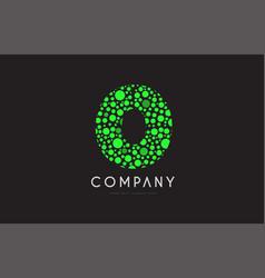 o letter bubble green logo icon design vector image