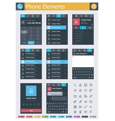 Phone elements vector image vector image